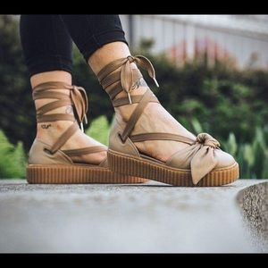 Puma Fenty by Rihanna Leather Bow Creepers